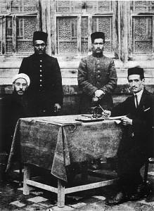هیئت نشر معارف | نشسته از سمت چپ: شیخ الاسلام قدس